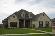 European Style House Plan - 4 Beds 2.5 Baths 2404 Sq/Ft Plan #472-12 Exterior - Front Elevation