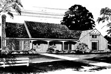 Exterior - Front Elevation Plan #72-635