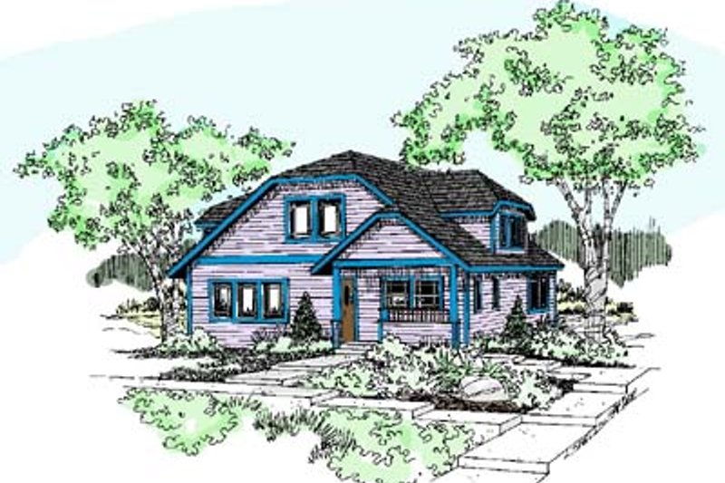 Traditional Exterior - Front Elevation Plan #60-570 - Houseplans.com