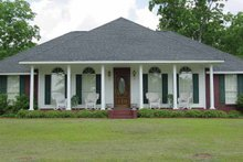 Country Exterior - Front Elevation Plan #44-200