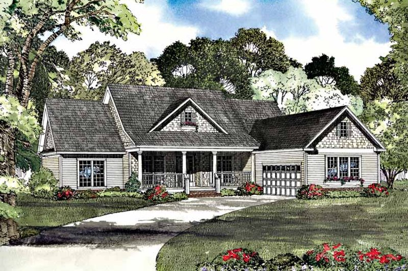 Dream House Plan - Country Exterior - Front Elevation Plan #17-3090