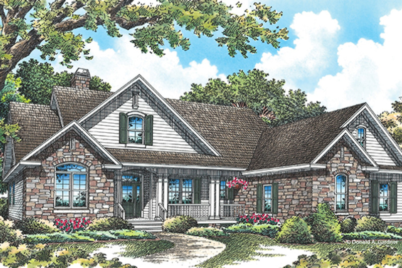 Traditional Exterior - Front Elevation Plan #929-965 - Houseplans.com