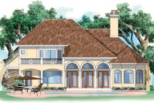Home Plan - Traditional Exterior - Rear Elevation Plan #930-90