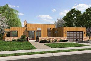 Modern Exterior - Front Elevation Plan #48-505