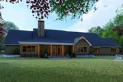 Craftsman Style House Plan - 4 Beds 4 Baths 5098 Sq/Ft Plan #923-121 Exterior - Rear Elevation