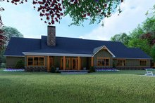 Dream House Plan - Craftsman Exterior - Rear Elevation Plan #923-121