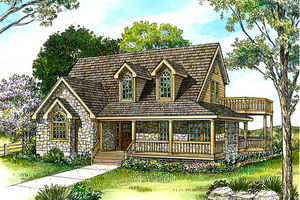 Farmhouse Exterior - Front Elevation Plan #140-120