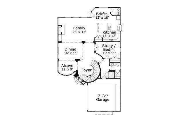 European Floor Plan - Main Floor Plan Plan #411-477