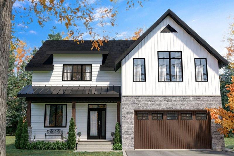 House Plan Design - Farmhouse Exterior - Front Elevation Plan #23-2725