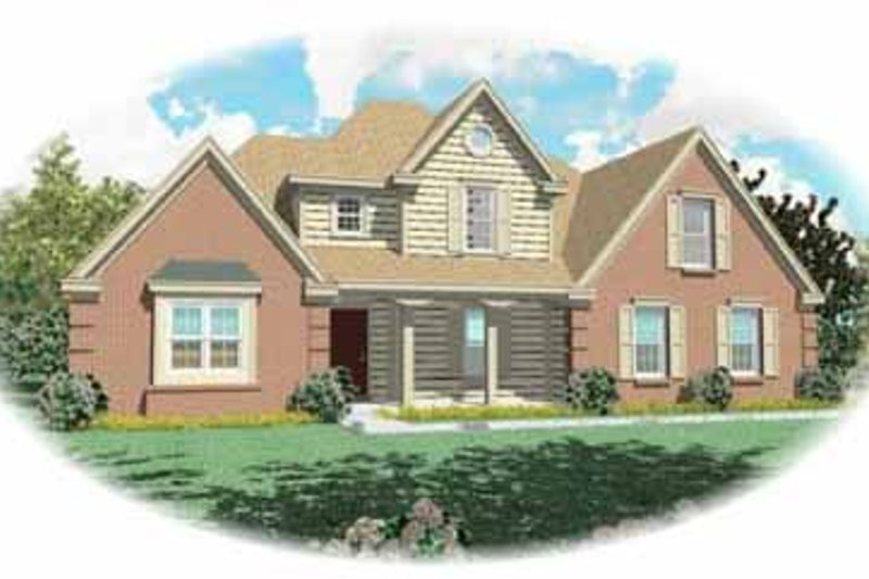 Traditional Style House Plan - 3 Beds 2.5 Baths 2306 Sq/Ft Plan #81-233 Exterior - Front Elevation