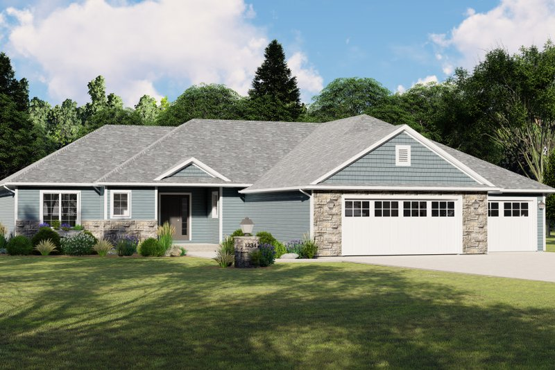 Dream House Plan - Craftsman Exterior - Front Elevation Plan #1064-79