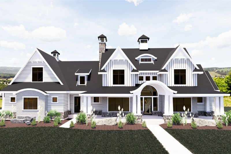 Architectural House Design - Craftsman Exterior - Front Elevation Plan #920-111