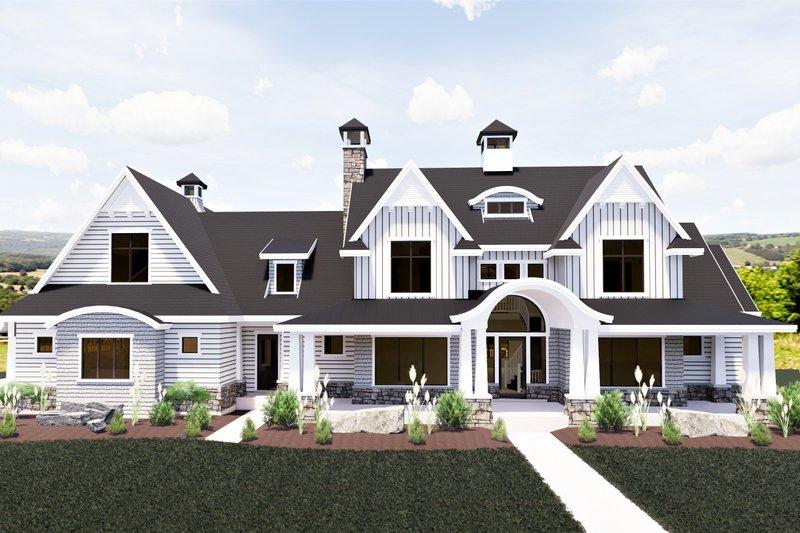 Architectural House Design - Craftsman Exterior - Front Elevation Plan #920-111