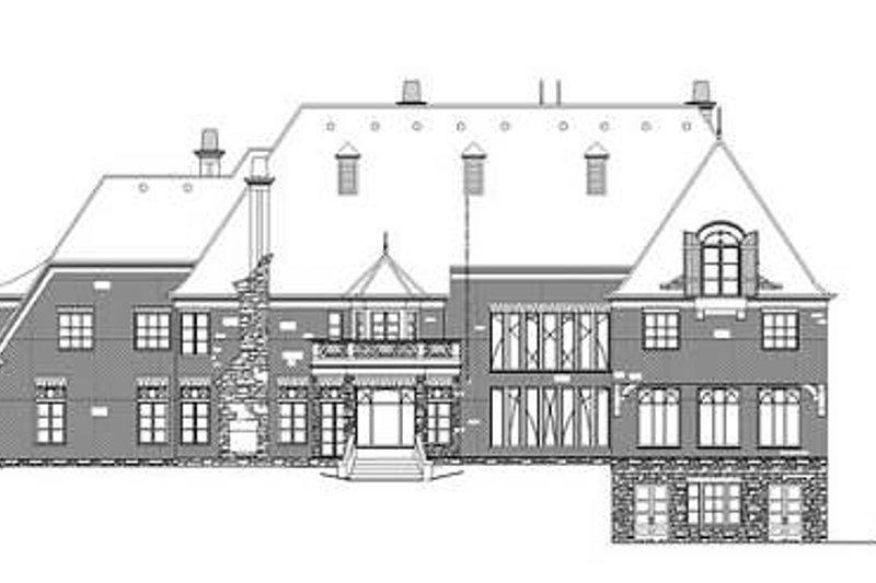 European Exterior - Rear Elevation Plan #119-339 - Houseplans.com