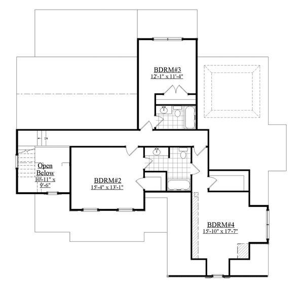 Farmhouse Floor Plan - Upper Floor Plan Plan #1071-18