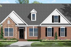 Colonial Exterior - Front Elevation Plan #1053-77