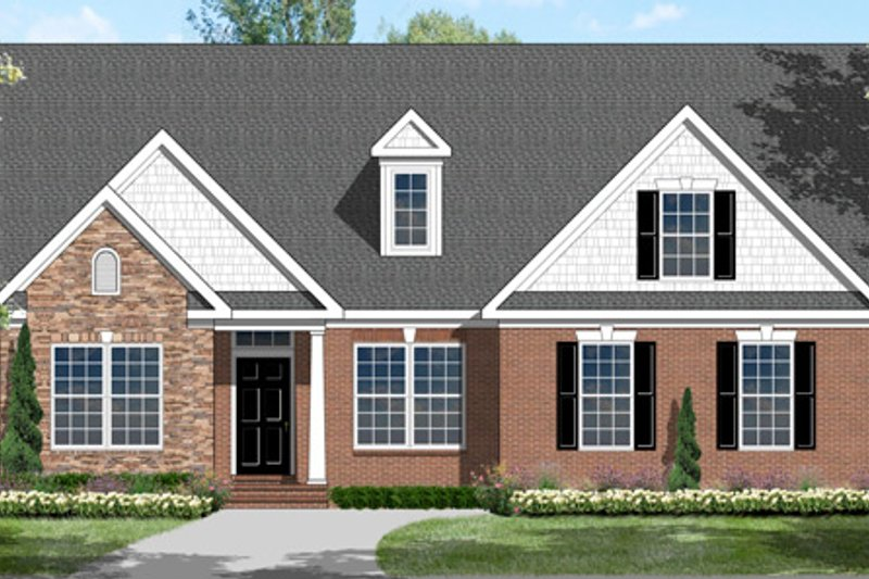 House Plan Design - Colonial Exterior - Front Elevation Plan #1053-77