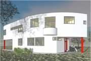 Modern Style House Plan - 3 Beds 2.5 Baths 2111 Sq/Ft Plan #450-6 Exterior - Front Elevation