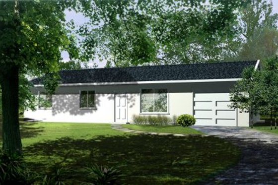 Ranch Exterior - Front Elevation Plan #1-152
