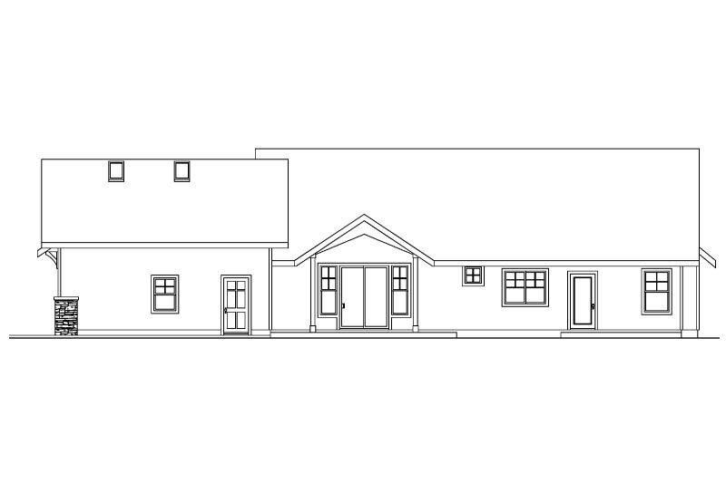 Craftsman Exterior - Rear Elevation Plan #124-583 - Houseplans.com