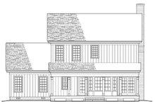 Colonial Exterior - Rear Elevation Plan #137-287