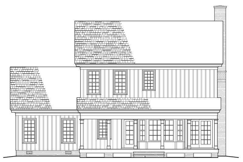 Colonial Exterior - Rear Elevation Plan #137-287 - Houseplans.com