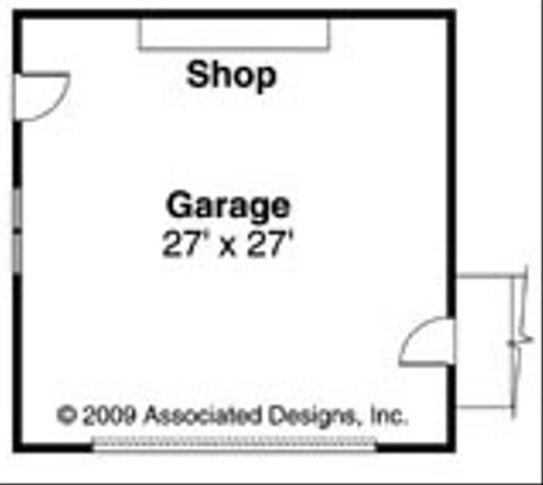 Ranch Floor Plan - Other Floor Plan Plan #124-728