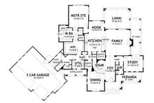 Farmhouse Floor Plan - Main Floor Plan Plan #120-195