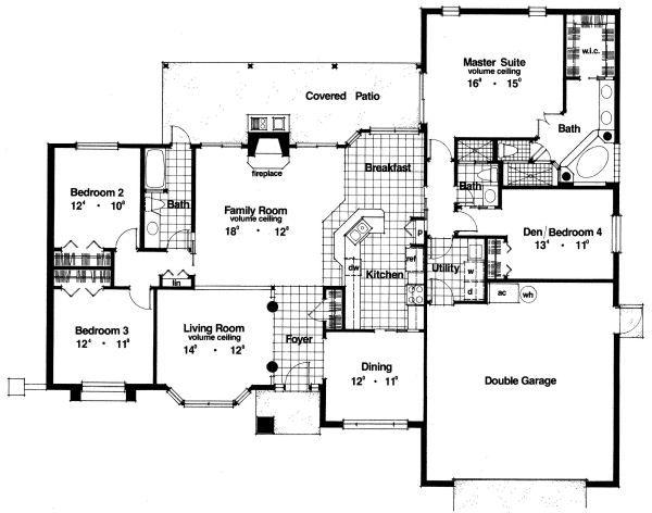 Modern Floor Plan - Main Floor Plan Plan #417-235