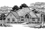 Traditional Style House Plan - 3 Beds 2.5 Baths 2649 Sq/Ft Plan #70-423 Exterior - Front Elevation