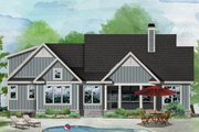 Ranch Style House Plan - 3 Beds 2 Baths 1578 Sq/Ft Plan #929-1094 Exterior - Rear Elevation