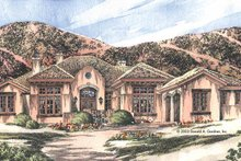 Mediterranean Exterior - Front Elevation Plan #929-698