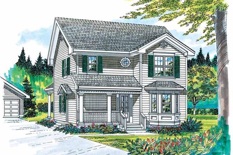 Victorian Exterior - Front Elevation Plan #47-903 - Houseplans.com