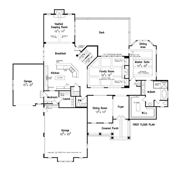 Traditional Floor Plan - Main Floor Plan Plan #927-346