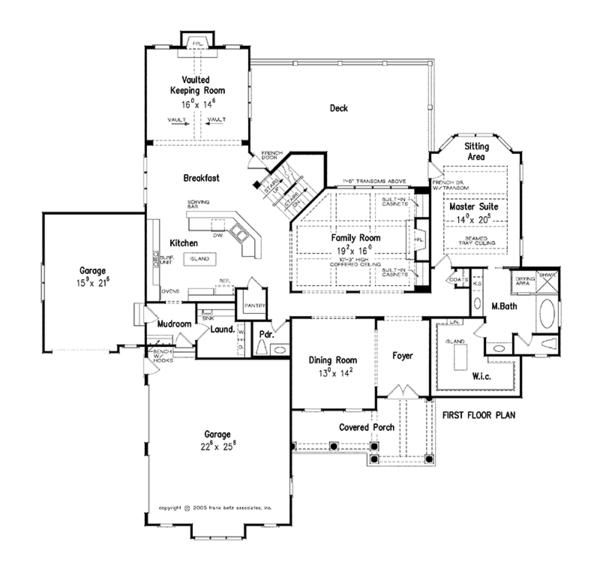 House Design - Traditional Floor Plan - Main Floor Plan #927-346