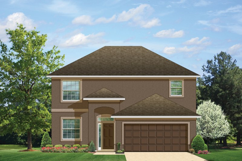 Colonial Exterior - Front Elevation Plan #1058-23