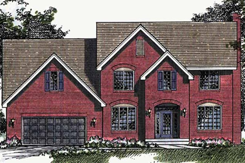 Traditional Exterior - Front Elevation Plan #51-867 - Houseplans.com