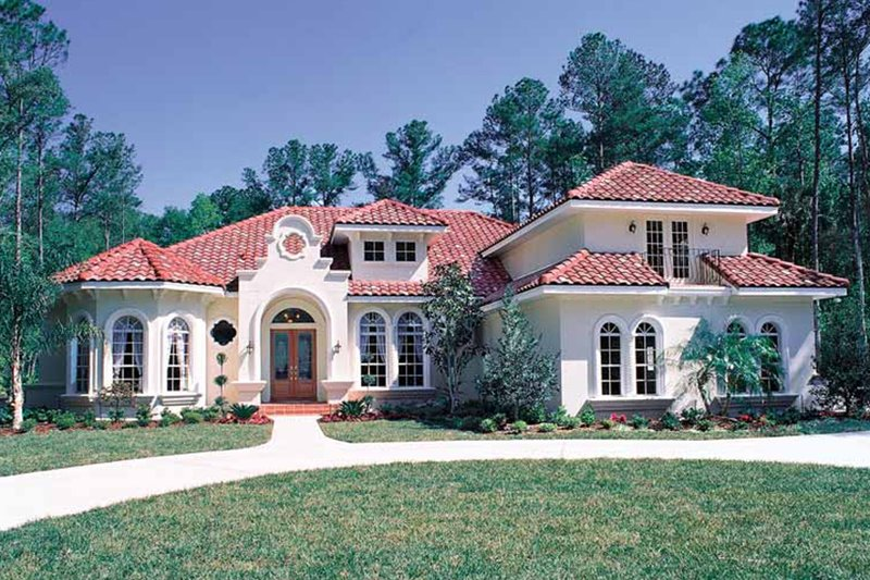 Mediterranean Exterior - Front Elevation Plan #417-662 - Houseplans.com