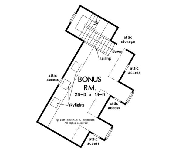 European Floor Plan - Other Floor Plan Plan #929-1003