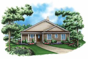 Craftsman Exterior - Front Elevation Plan #1017-114
