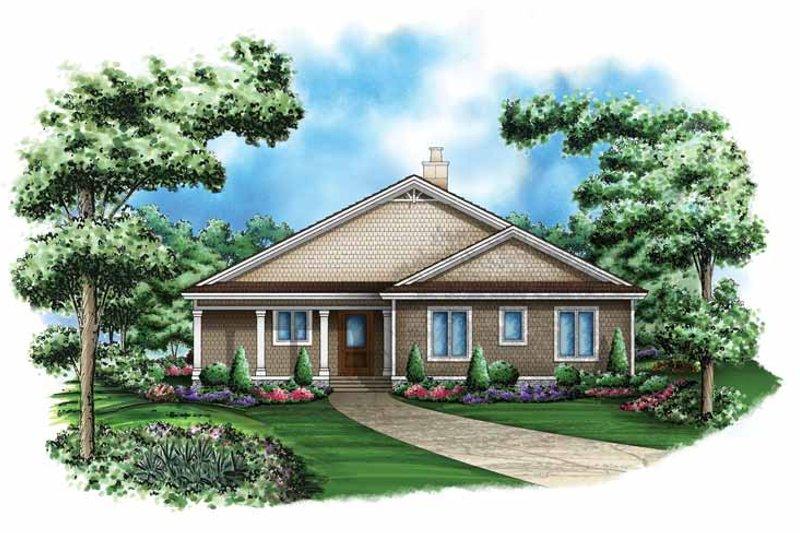 Craftsman Exterior - Front Elevation Plan #1017-114