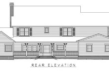 Architectural House Design - Country Exterior - Rear Elevation Plan #11-233