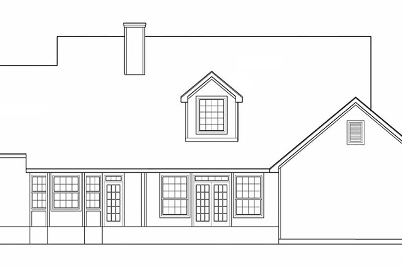 Country Exterior - Rear Elevation Plan #472-246 - Houseplans.com