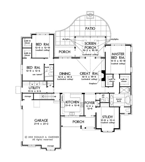 Dream House Plan - European Floor Plan - Main Floor Plan #929-964