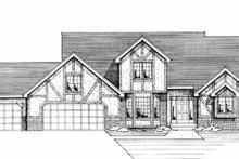 Tudor Exterior - Front Elevation Plan #51-812