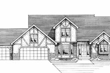 Architectural House Design - Tudor Exterior - Front Elevation Plan #51-812