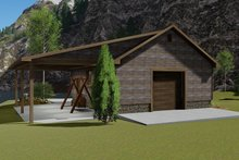 Dream House Plan - Traditional Exterior - Rear Elevation Plan #1060-96