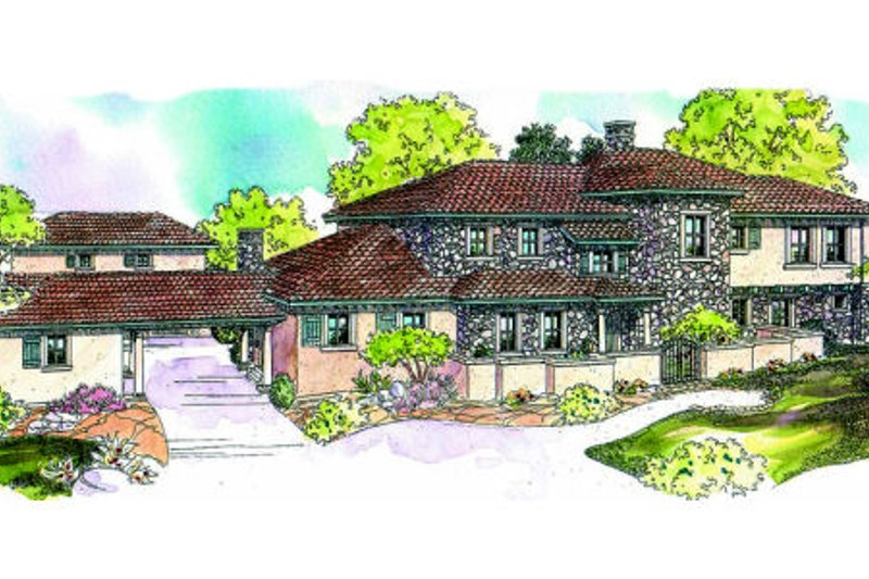 Craftsman Exterior - Front Elevation Plan #124-607
