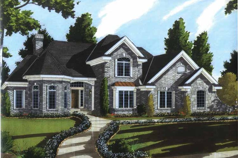 Country Exterior - Front Elevation Plan #46-806