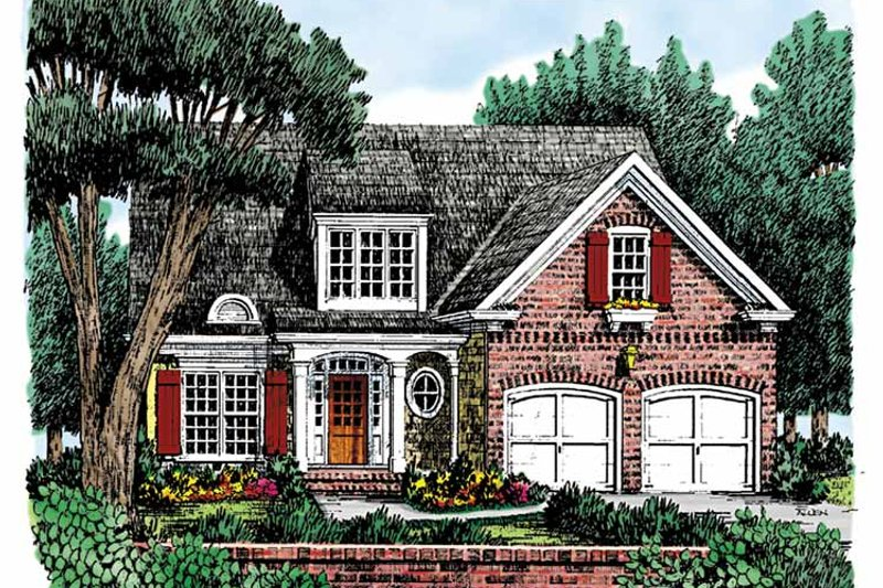 Home Plan - Country Exterior - Front Elevation Plan #927-730